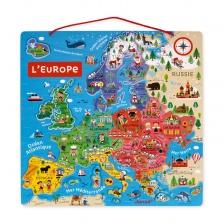 Carte d'Europe Magnétique (bois) - JANOD
