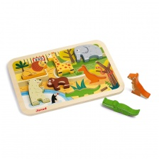 Chunky Puzzle Zoo 7 pièces (bois) - JANOD