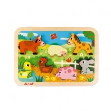 Chunky Puzzle Ferme 7 pièces (bois) - JANOD
