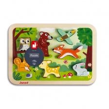 Chunky Puzzle Forêt 7 pièces (bois) - JANOD