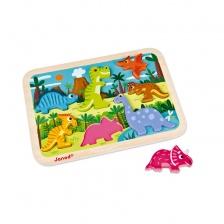 Chunky Puzzle Dinosaures 7 pièces (bois) - JANOD
