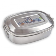 Boîte à tartines Chiens en Inox - SIGIKID